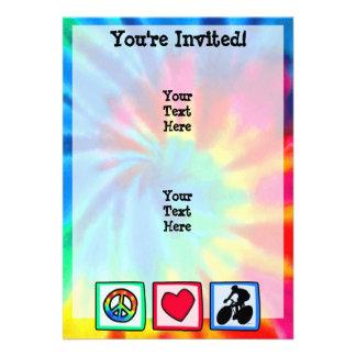 Peace Love Cycling Custom Invitations