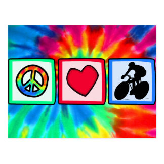 Peace, Love, Cycling Postcards