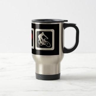 Peace love cycling travel mug