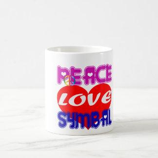 Peace Love cymbal Coffee Mug