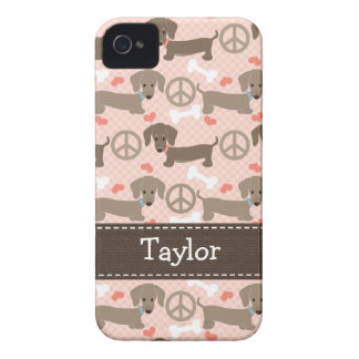 Peace Love Dachshund Doxies 4 4s Case-Mate Cover iPhone 4 Case-Mate Case