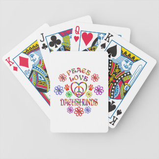 Peace Love Dachshunds Bicycle Playing Cards