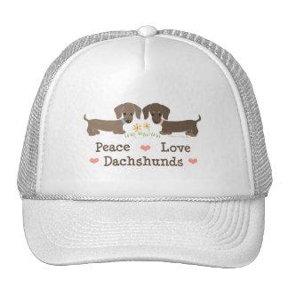 Peace Love Dachshunds Cap Trucker Hat