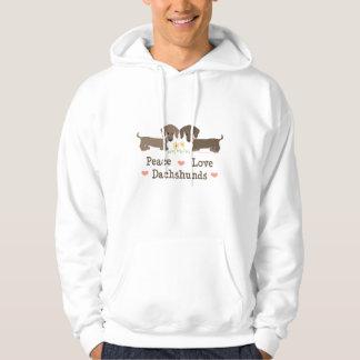 Peace Love Dachshunds Hooded Sweatshirt