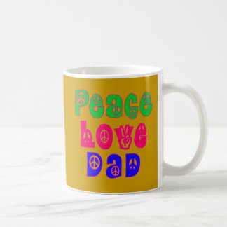 Peace Love Dad Gifts Mug