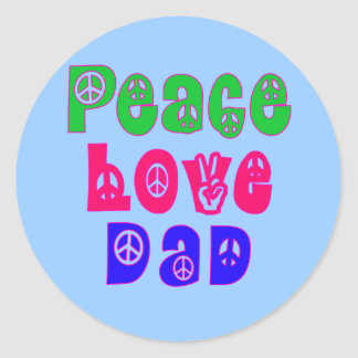 Peace Love Dad Gifts Stickers