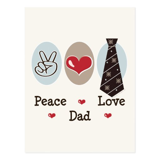 Peace Love Dad Postcard
