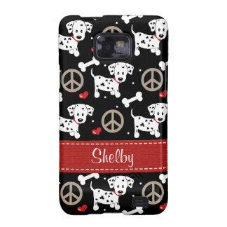 Peace Love Dalmatians Samsung Galaxy S Case Cover Samsung Galaxy SII Covers