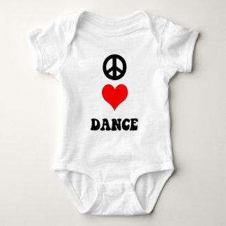 Peace Love Dance Baby Bodysuit