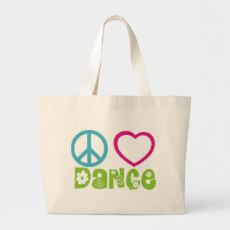 Peace Love Dance Canvas Bags