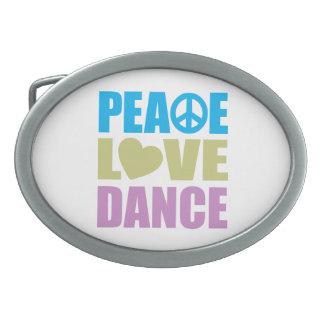 Peace Love Dance Belt Buckle