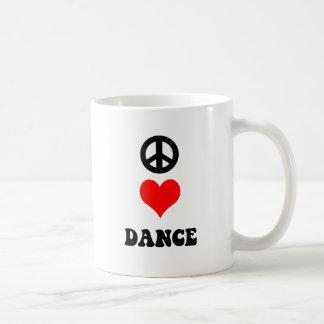 Peace Love Dance Coffee Mug