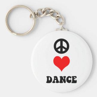 Peace Love Dance Keychain