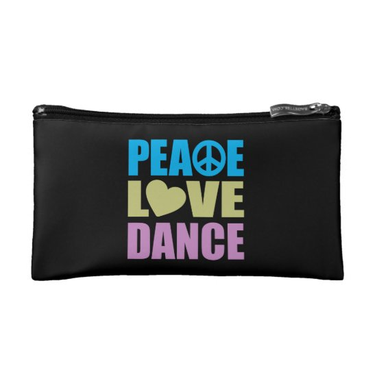 Peace Love Dance Makeup Bag