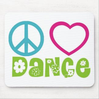 Peace Love Dance Mousepads