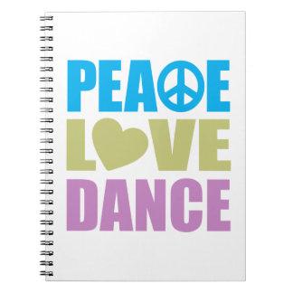 Peace Love Dance Spiral Notebooks