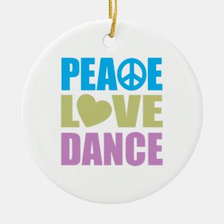 Peace Love Dance Christmas Tree Ornament