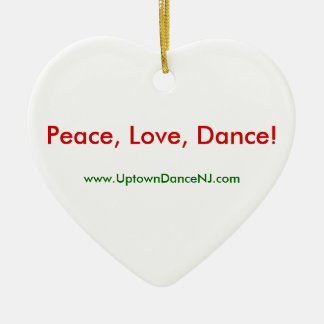 Peace, Love, Dance! Ornament