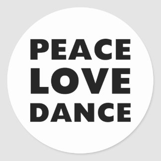 Peace Love Dance Stickers