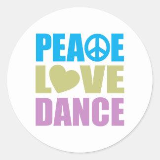 Peace Love Dance Sticker
