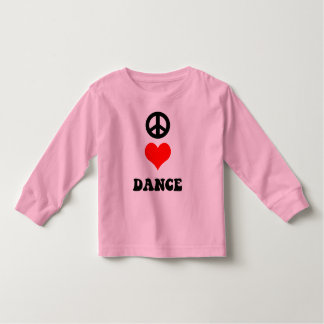 Peace Love Dance Toddler T-shirt