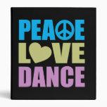 Peace Love Dance Vinyl Binders
