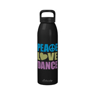 Peace Love Dance Drinking Bottles