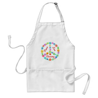 Peace Love Dancing Adult Apron