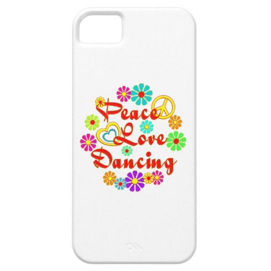 PEACE LOVE Dancing iPhone SE/5/5s Case