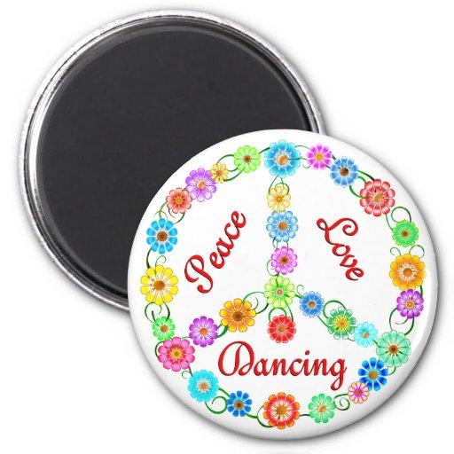 Peace Love Dancing Magnet