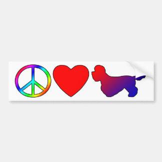 Peace Love Dandie Dinmont Terriers Bumper Sticker