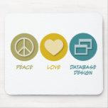 Peace Love Database Design Mouse Pad