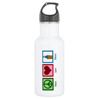 Peace Love Debate Water Bottle