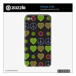 PEACE & LOVE DECALS FOR THE iPhone 4