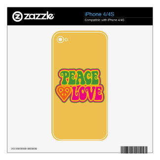 Peace Love Decals For The iPhone 4S