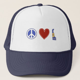 Peace Love Delaware Trucker Hat