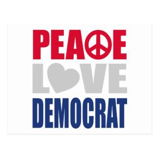 Peace Love Democrat Postcard