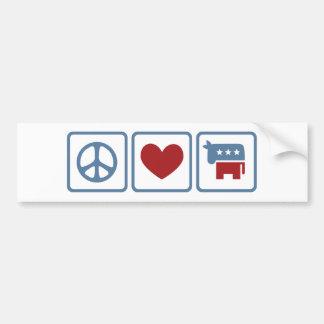 Peace Love Democrats Bumper Sticker