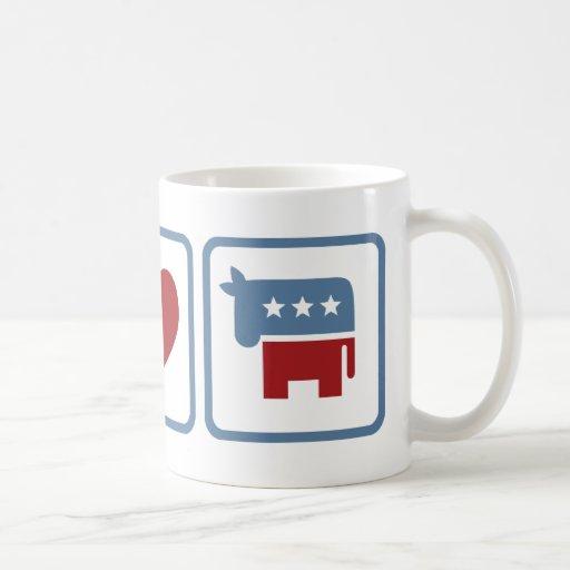 Peace Love Democrats Coffee Mug
