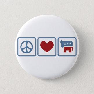 Peace Love Democrats Pinback Button