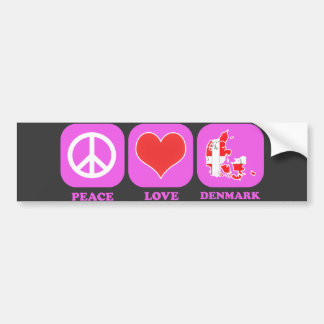 Peace Love Denmark Bumper Sticker