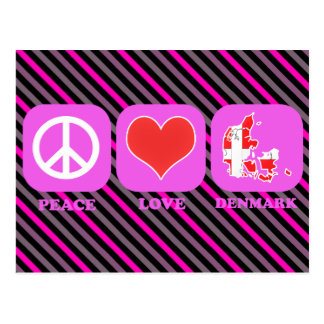 Peace Love Denmark Postcard
