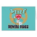 PEACE LOVE DENTAL FLOSS CARDS