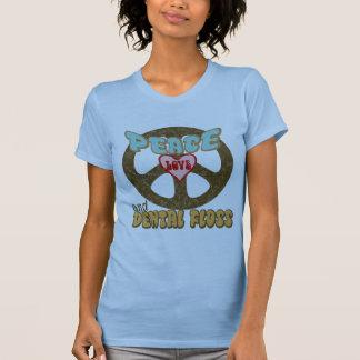 PEACE LOVE DENTAL FLOSS T SHIRT