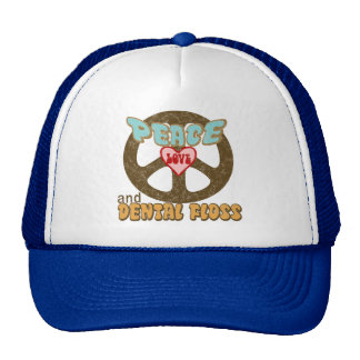 Peace Love Dental Floss Vintage Trucker Hat