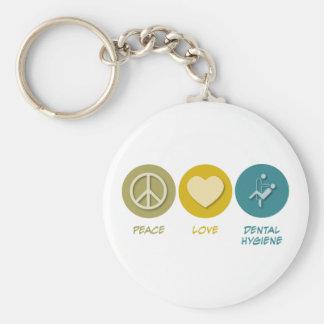Peace Love Dental Hygiene Key Chain