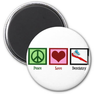 Peace Love Dentistry Fridge Magnets