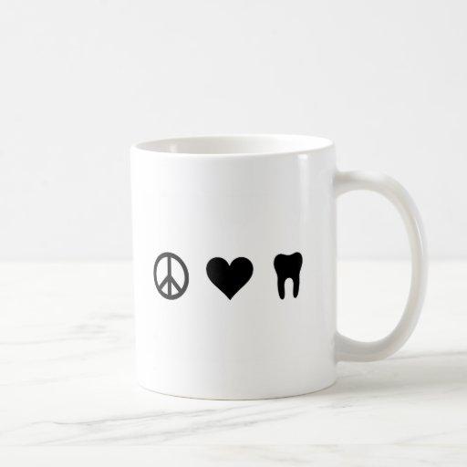 Peace, Love, Dentistry Mug