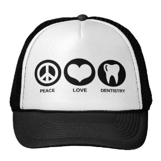 Peace Love Dentistry Trucker Hat