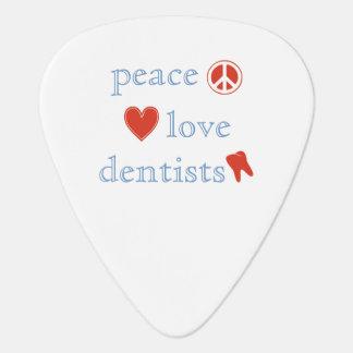 Peace Love Dentists Guitar Pick